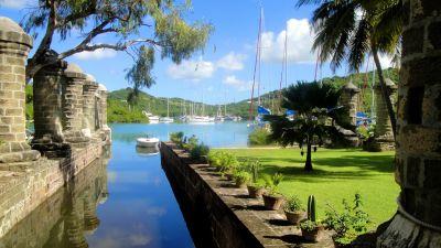 """Die Marinewerft """"Nelson's Dockyard"""" auf der Insel Antigua stammt aus der georgianischen Epoche."""