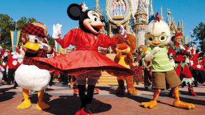 Vortänzer: Das Disney Magic Kingdom bei Orlando in Florida schwingt sich auf den ersten Platz.
