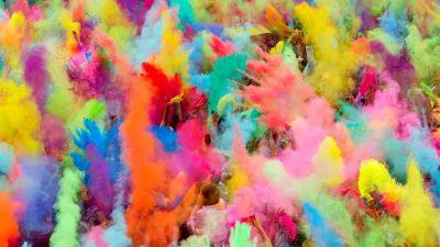 Hunderttausende Menschen in ganz Indien feiern einmal im Jahr das Holi Festival, das Fest der Farben.