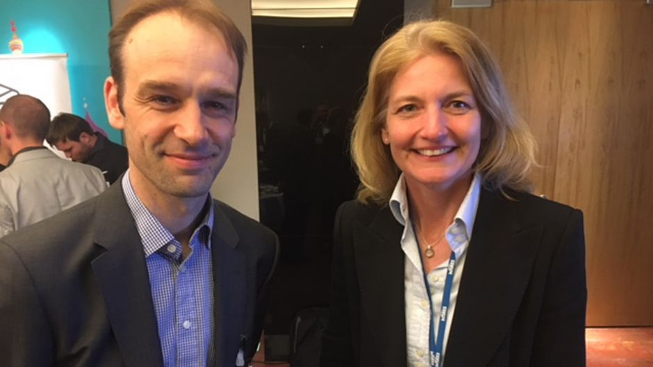 Christian Fornaschon (British Airways/Iberia) und Anke Hsu (Interes)