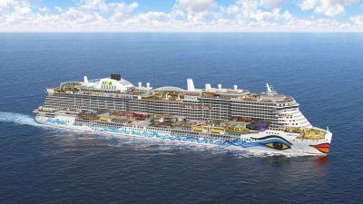 Die Aida Nova wird das größte Schiff der Flotte sein mit über 2600 Kabinen.