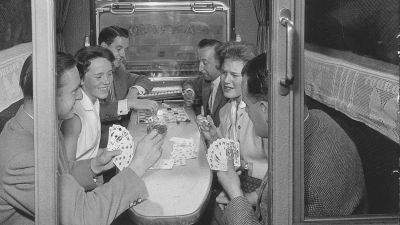 Touropa – pictured is a special train for holidaymakers at the end of the 1950s – was one of the founding companies of TUI. In 2004, the brand was revived as a dynamic packaging tour operator in a joint venture with Georg Eisenreich but this was unsuccessful.