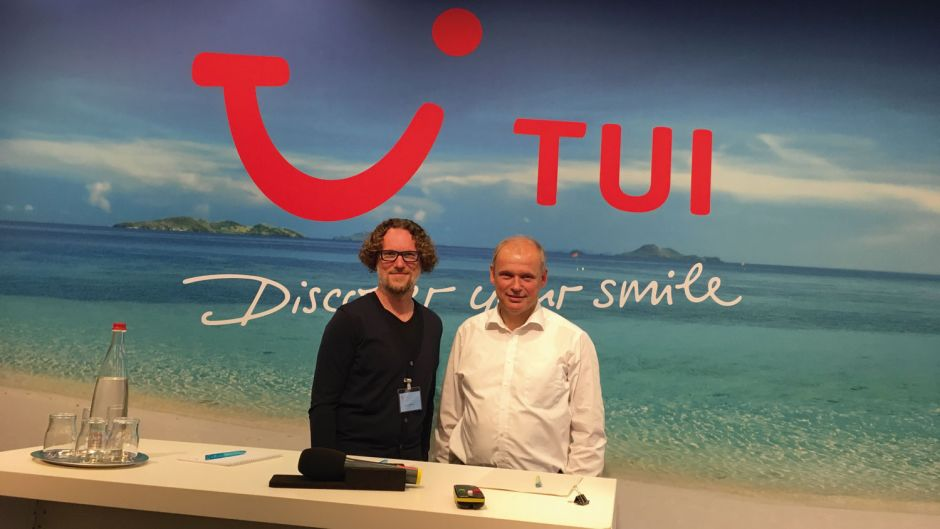 Board member Sebastian Ebel (right) also took over management of TUI Central Europe (Germany, Austria, Switzerland, Poland) in 2015. In the middle of 2017, he handed over the job to Marek Andryszak, previously head of TUI Poland. Ebel is today responsible for hotels, cruises and destination management on the TUI Group board.