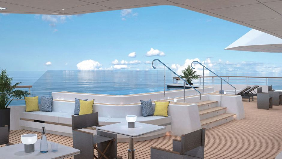 The first Ritz-Carlton ship is designed to fill the gap between super-yacht and ultra-luxury ship from February 2020. Fewer stops, more overnight stays and private charters are part of the concept. The name has not yet been decided.