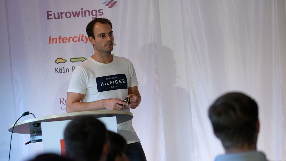 Daniel Marx (Urlaubsguru) discussed the challenges facing start-ups.