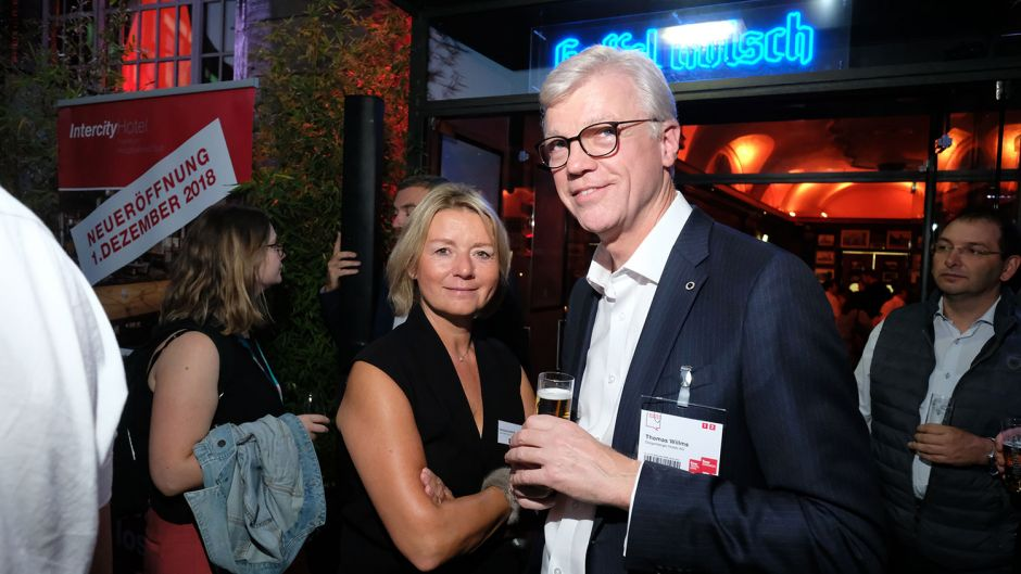 Fvw publisher Marliese Kalthoff and Thomas Willms (Steigenberger)