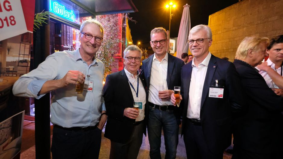 From left: Johannes Zurnieden (Phoenix Reisen), Joachim Marusczyk (Intercity Hotels), DRV president Norbert Fiebig and Thomas Willms (Steigenberger)