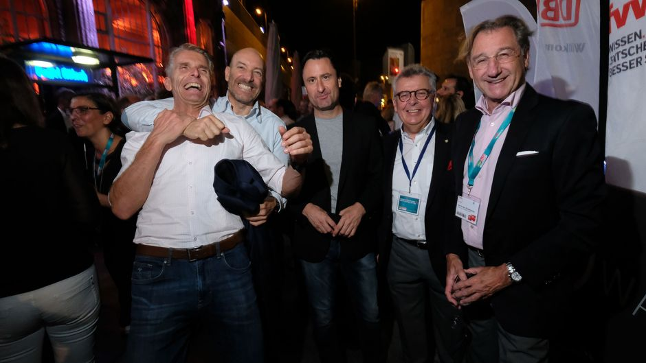 From left: Michael Tenzer (Viamonda), Ingo Burmester (Thomas Cook), Beat Blaser, Joachim Marusczyk (Intercity Hotels) and Karl Anton Schattmaier (Welcome Hotels)