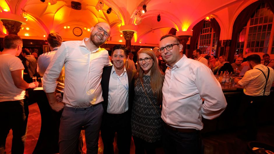 From left: Arno Slawisch (Amadeus), Frank Meier (Traveltainment), Laura Stehling (Traveltainment) and Viktor Skalski