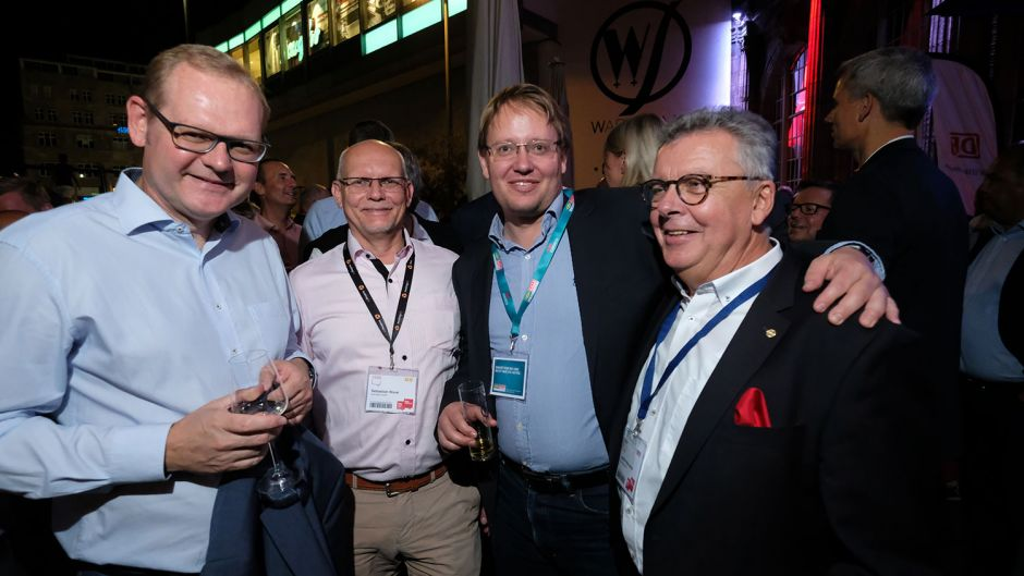 From left: Dirk Inger (DRV), Sebastian Worel (Bookingkit), Alexander Dingeldey (DHBW) and Joachim Marusczyk (Intercity Hotels)