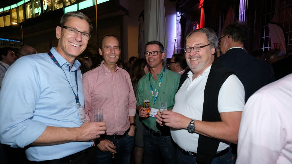 From left: Peter Wittmann (TUI), Dirk Hansel (Protours), Christian Feldmann (Tourone Systems) and Werner Sülberg (DER Touristik)