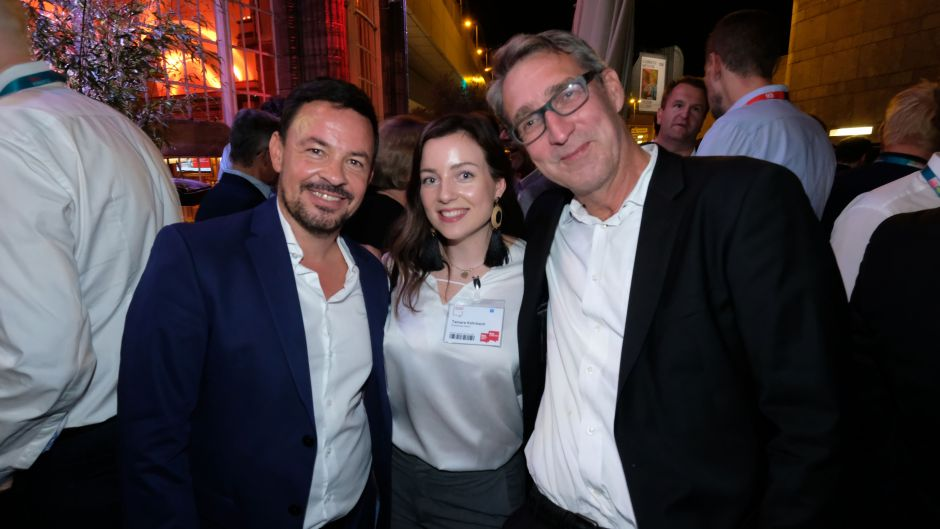 From left: Marcel Mayer (Dreamlines), Tamara Kehrbach (Dreamlines) and Frank Rieke (cruise consultant)