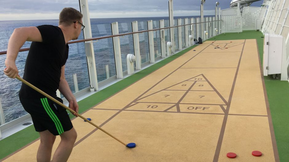 Shuffleboard is fun for all ages.