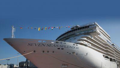 Die Seven Seas Splendor soll im Februar 2020 ihre erste Fahrt unternehmen.