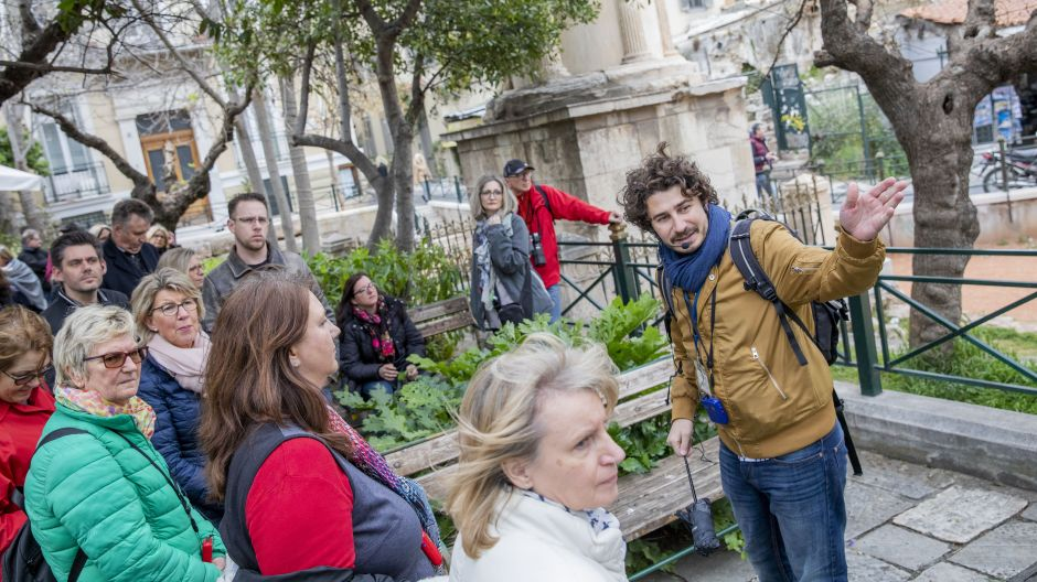 Participants toured the Plaka, the historic centre of Athens.
