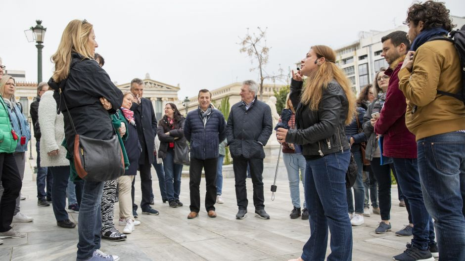 Some 30 travel agents went on the guided tour of the Greek capital.