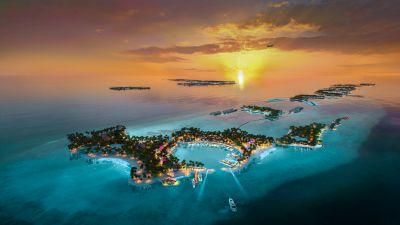 Das Crossroads Maldives liegt nur 15 Minuten per Schnellboat von der Hauptstadt Malé entfernt.