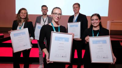 Die glücklichen Top unter 30-Gewinner von 2018: Katharina Seehuber, Patrick Reiß, Laura Deimel, Steffen Schulz und Ramona Pfeifer (von links).