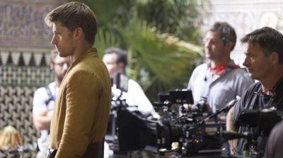 """Schauspieler Nikolaj Coster-Waldau ( Jaime """"Königsmörder"""" Lannister) bei Dreharbeiten im Alcázar von Sevilla."""