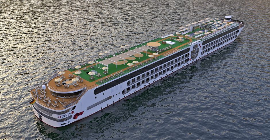 There will be a fourth deck, a large wellness area, and several restaurants. The double cabins all have balconies.