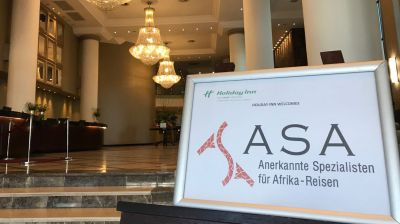 Die Abschlussveranstaltung des ASA-Fam-Trips fand im Holiday Inn im Johannesburger Stadtteil Sandton statt.