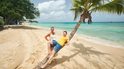 Karibik-Feeling erlebten die Reisebüros auf Barbados.