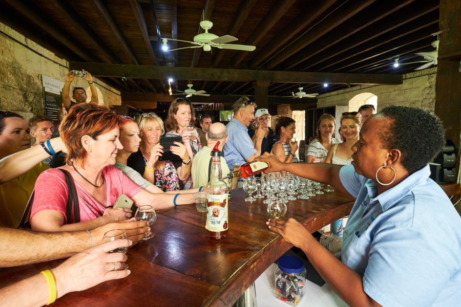 Rum tasting in the Foursquare Rum Distillery