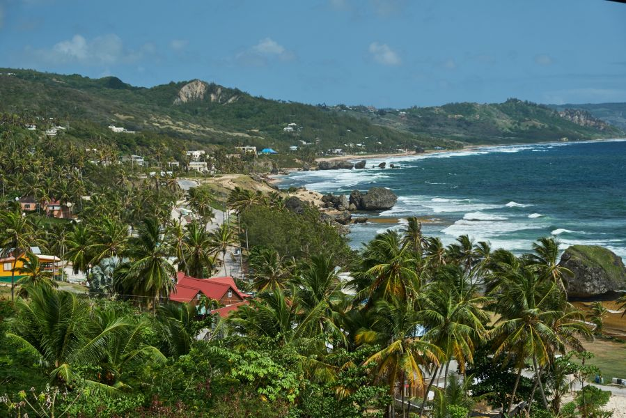 The west coast of Barbados offers scenic views.