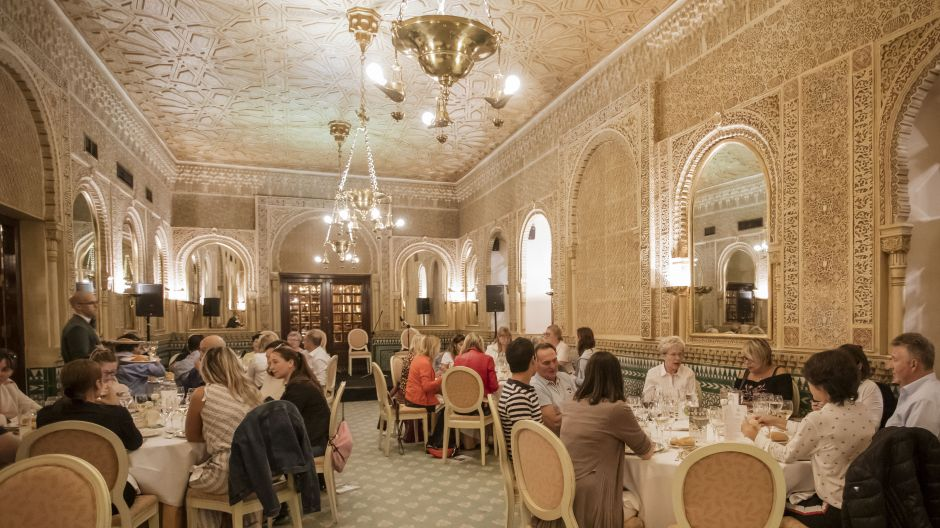 Dining in style at the Hotel Alhambra Palace, close to the landmark of Granada