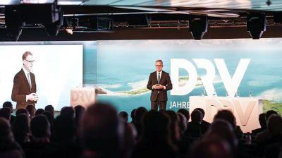 DRV-Präsident Norbert Fiebig während seiner Grundsatzrede am Dienstagnachmittag.