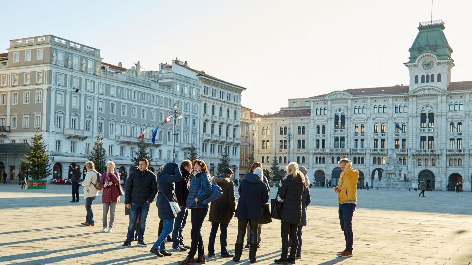 The impressive Italian Unification Square in the heart of Trieste.