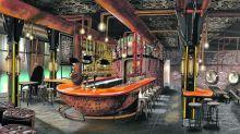 Gesamtkunstwerk: Die Bar 1919 in der Themenwelt Rookburgh im Phantasialand serviert Craft-Bier.