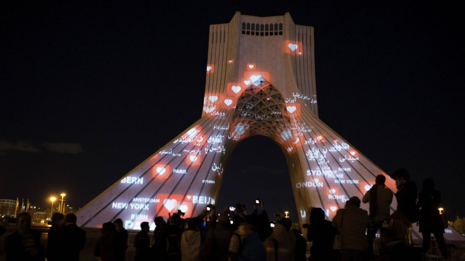 Shows comradeship with the world: the Azadi Tower in Iran's capital Tehran.