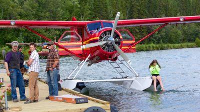 Zu Wasser und in der Luft: Viele Lodges sind nur per Float Plane erreichbar