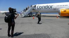 Willkommen auf Kreta: Der erste Flug aus Deutschland zum Start der Tourismussaison auf der griechischen Insel sorgte für großes mediales Aufsehen.