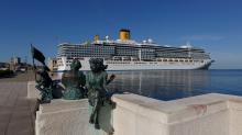 Die Costa Deliziosa im Hafen von Triest. Für 2800 Passagiere wurde sie gebaut. Derzeit lässt Costa aber nicht mehr als 700 an Bord.