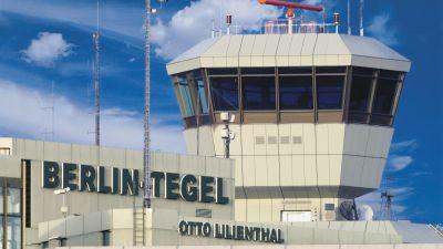 Unverkennbar: der Tower des Flughafens Berlin-Tegel. Er ist 47,50 Meter hoch.