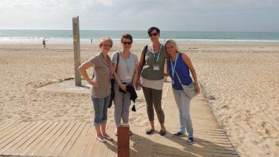 Gleich nach der Ankunft wurde erst einmal der Strand in Novo Sancti Petri inspiziert.