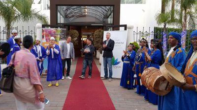 """Im Restaurant """"Casa Mia"""" in Agadir wurden die 130 Expis am ersten Abend offiziell von Vertriebschef Richard Reindl und Pauschalreise-Chef Sven Schikarsky (beide FTI) begrüßt."""