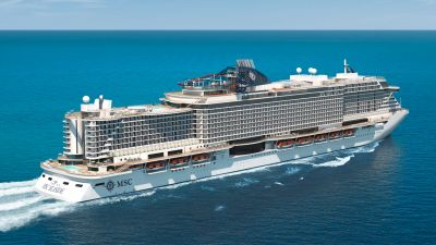 Neues Flaggschiff: Die MSC Seaside wirde Ende November in Triest präsentiert.