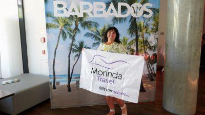 Willkommen beim Karibik-Megworkshop 2019. Die Barbados-Fotowand war ein beliebtes Motiv.
