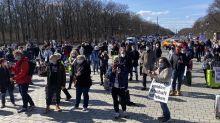 Die rund 200 Teilnehmer der Kundgebung reisten aus ganz Deutschland an.