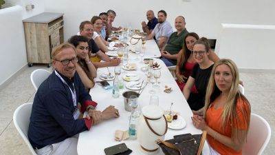 Das gemeinsame Abendessen im Hotel Ayron Park