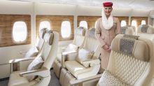 Jüngstes Produkt aus Dubai: Ende 2020 hat Emirates die Premium Eco erstmals präsentiert – in Dubai. Im Rahmen einer Werksbesichtigung bei Airbus bekamen nun auch deutsche Journalisten das Produkt zu sehen. Bald wird der vierte A380 damit ausgeliefert.