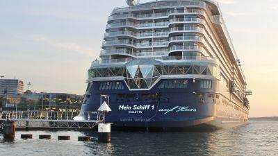 Die Mein Schiff 1 fährt seit dem 23. Mai 2021 nach einer viermonatigen Pause wieder ab Kiel.