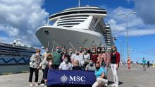 Die Vorfreude steigt: Gleich geht's in Kiel an Bord der MSC Seaview für eine einwöchige Kreuzfahrt Richtung Tallinn und zurück.