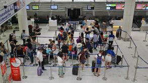 Many holidaymakers faced long waits for flights this summer.