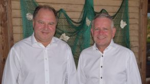 Men in white: FTI CEO Dietmar Gunz (left) with managing director Ralph Schiller