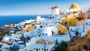 Greek islands such as Santorini are big winners this year.