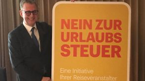 """No to the holiday tax"", says DRV president Norbert Fiebig"